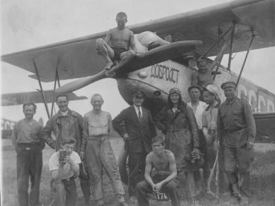 Члены общества «Добролёт» и киноэкспедиции «Востоккино». Бирск, июль, 1930 г.