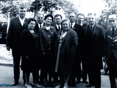 Н.Г. Овчарова на встрече однополчан 497-го стрелкового полка 135-й стрелковой дивизии. Коломна, 1979 г.