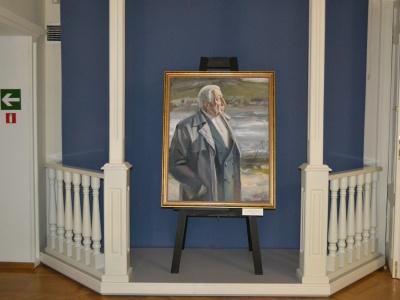 Открытие выставки «Где вершина прильнула к вершине…» Иллюстрации к произведениям Расула Гамзатова»